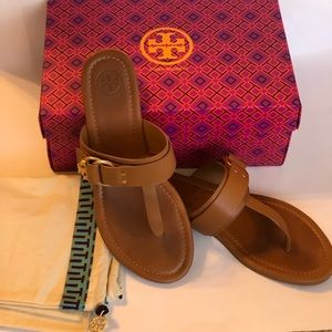 1b538a295 Tory Burch Marsden Flat Sandal Leather Size 7.5